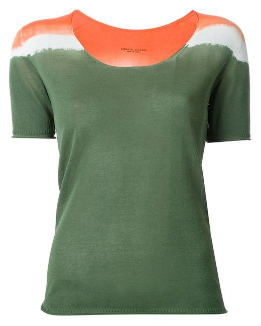 Roberto Collina | Женское Зелёный Tri-Tone Shortsleeved Knit T-Shirt