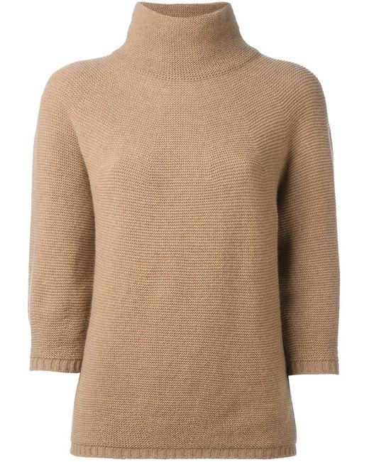 Max Mara   Женское Коричневый Structured Knitted Blouse