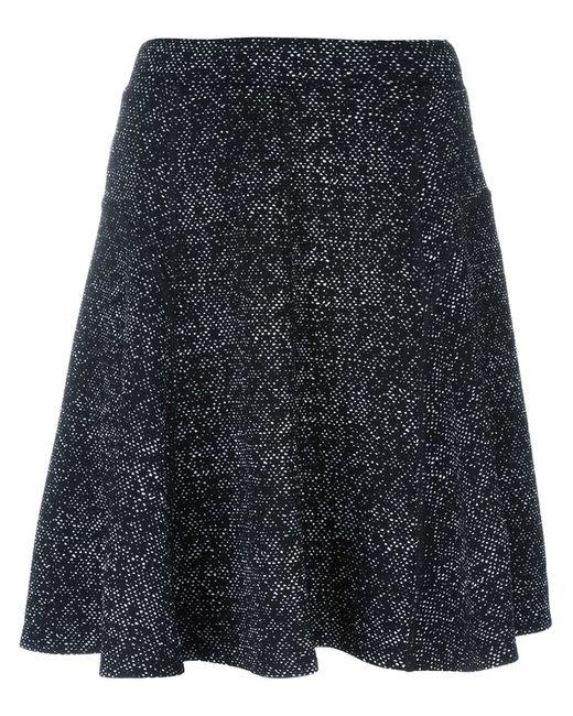 Steffen Schraut | Женское Чёрный Flocked A-Line Skirt