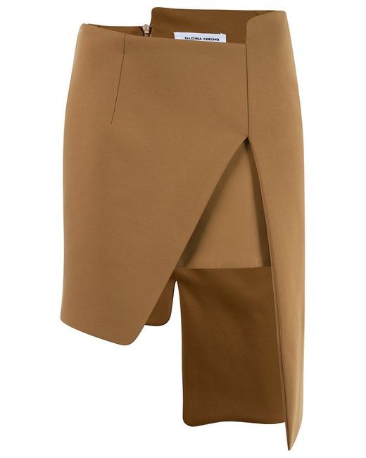 GLORIA COELHO | Женское Коричневый Asymmetric Skirt
