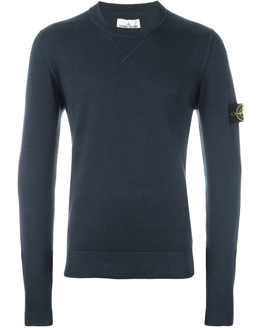 Stone Island | Мужское Синий Crew Neck Sweater