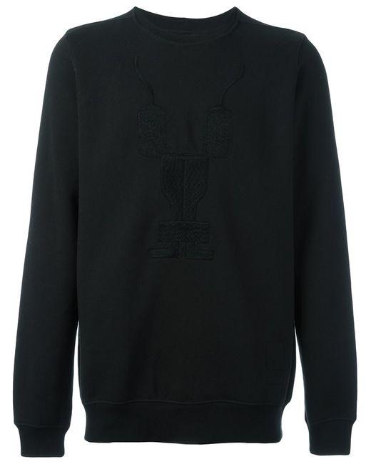 RICK OWENS DRKSHDW | Мужское Чёрный Embroidered Long Sleeve Sweatshirt