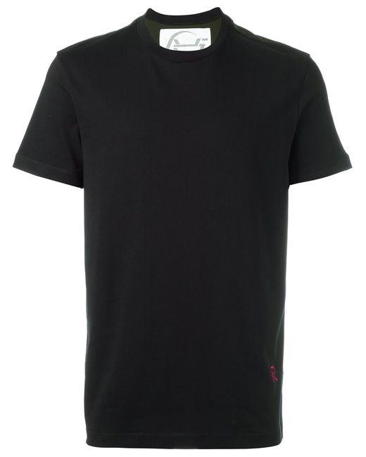 Raf Simons | Мужское Чёрный Colour Block T-Shirt