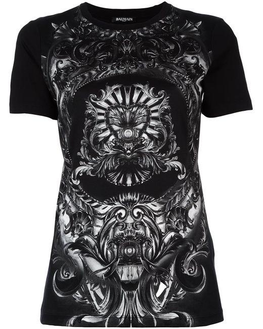 Balmain | Женское Чёрный Baroque Detail T-Shirt