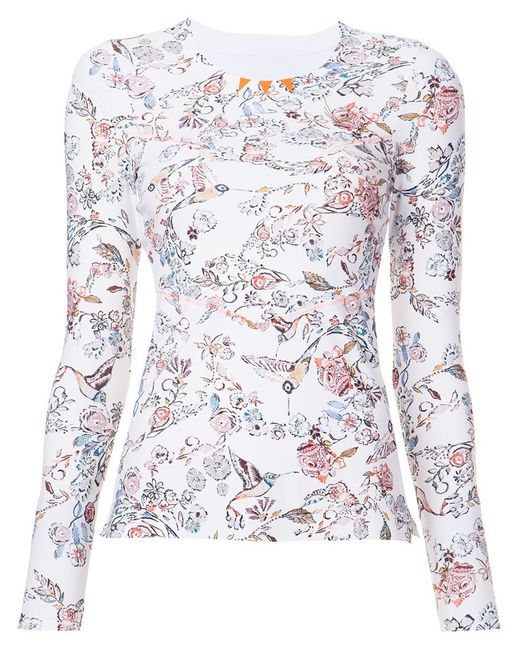 Lucas Hugh   Женское Белый Print Fine Knit Sweatshirt