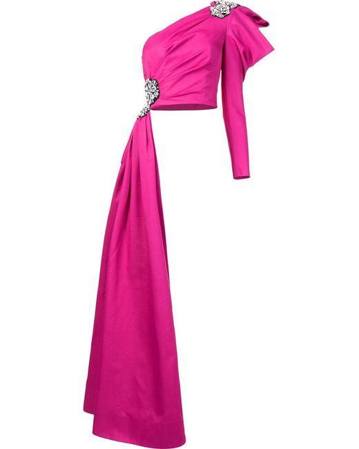 Moschino | Женское Розовый Crystal Embellished Asymmetric Top