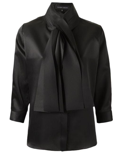GLORIA COELHO   Женское Чёрный Bow Detail Shirt