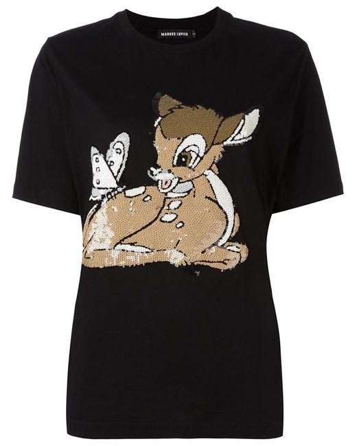 Markus Lupfer   Женская Чёрная Футболка Bambi