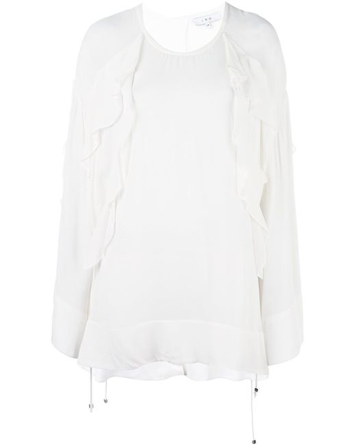 Iro | Женская Белая Блузка С Оборками