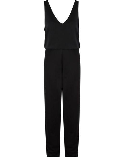 GLORIA COELHO | Чёрный Belted Sleeveless Jumpsuit