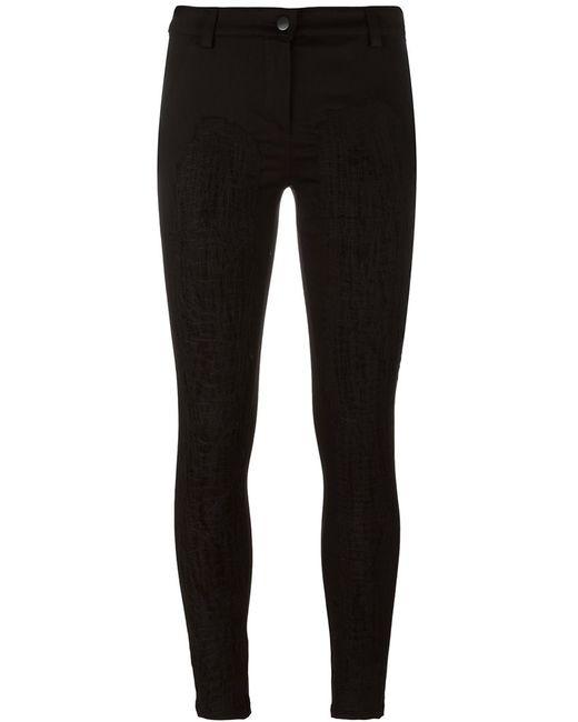 ANDREA YA'AQOV   Чёрный Stitching Detail Trousers