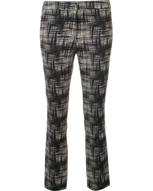 Ql2 | Чёрный Abstract Print Cropped Trousers