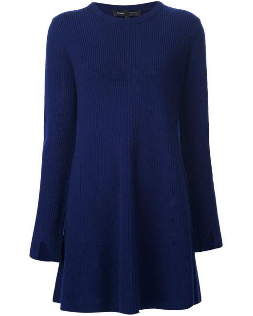Proenza Schouler | Женское Синее Платье Свободного Кроя