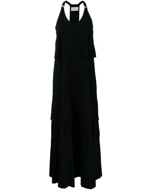 STRATEAS CARLUCCI   Женское Чёрный V-Neck Long Dress