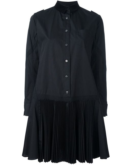 Sacai | Женское Чёрный Pleated Poplin Shirt Dress