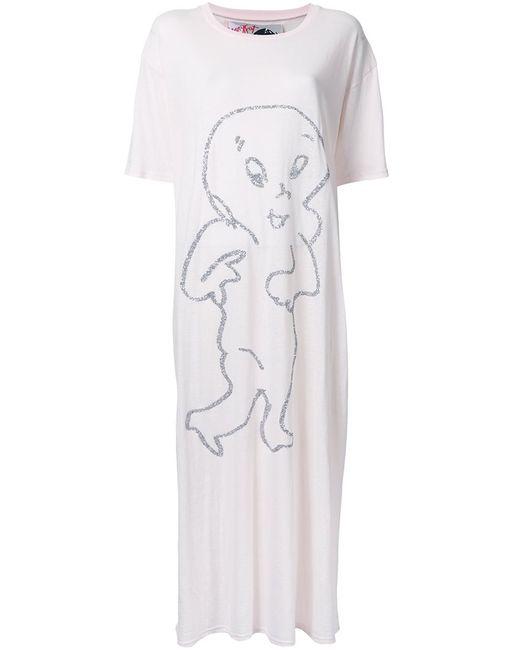 Jenny Fax   Женское Розовый Printed Front Long T-Shirt Dress