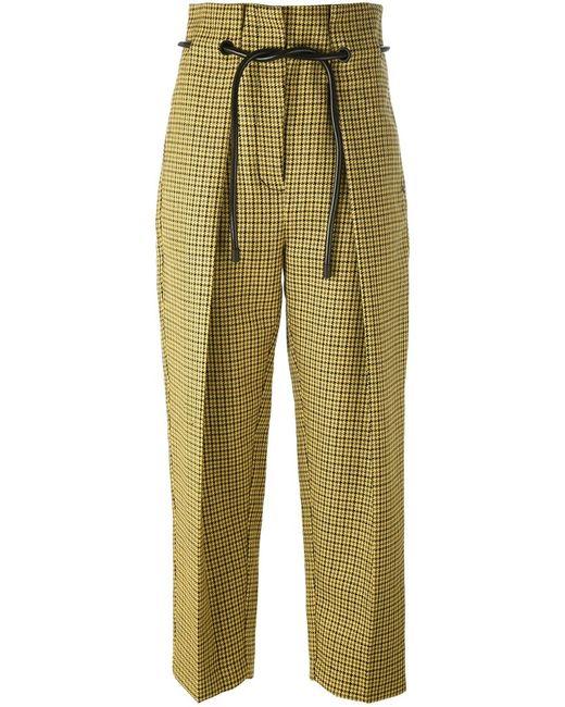 3.1 Phillip Lim | Желтый Origami Pleat Houndstooth Trousers