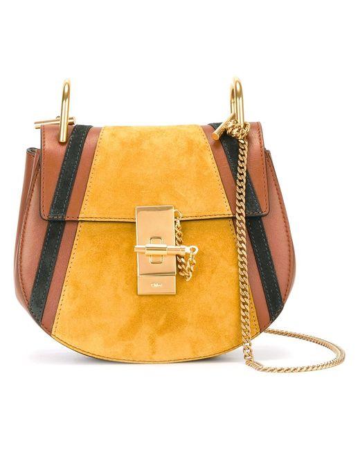 Chloe | Желтый Chloé Patchwork Drew Shoulder Bag