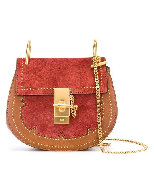 Chloe | Коричневый Chloé Studded Drew Shoulder Bag