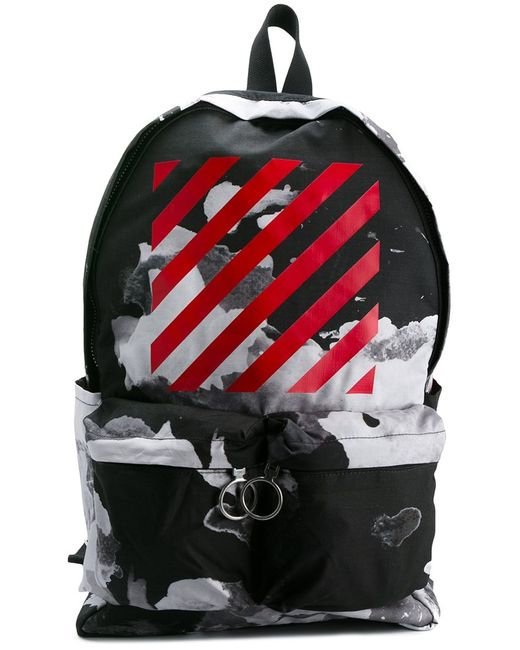 OFF-WHITE   Мужское Чёрный Abstract Print Backpack