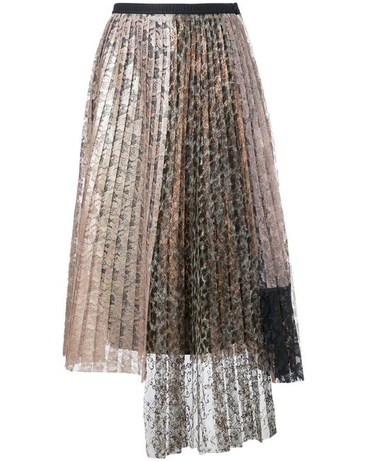 Antonio Marras | Женское Серебристый Lace Pleated Skirt