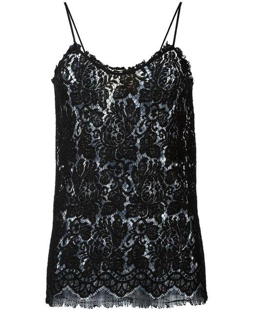 Erika Cavallini | Женское Чёрный Lace Top 44 Cotton/Viscose/Polyamide