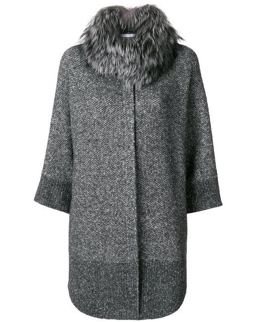 Fabiana Filippi   Серый Three Quarter Sleeve Cardi-Coat Women Silk/Cotton/Polyamide/Pbt
