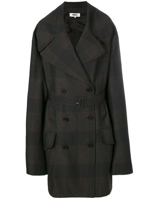 MM6 by Maison Margiela | Женское Чёрное Свободное Пальто