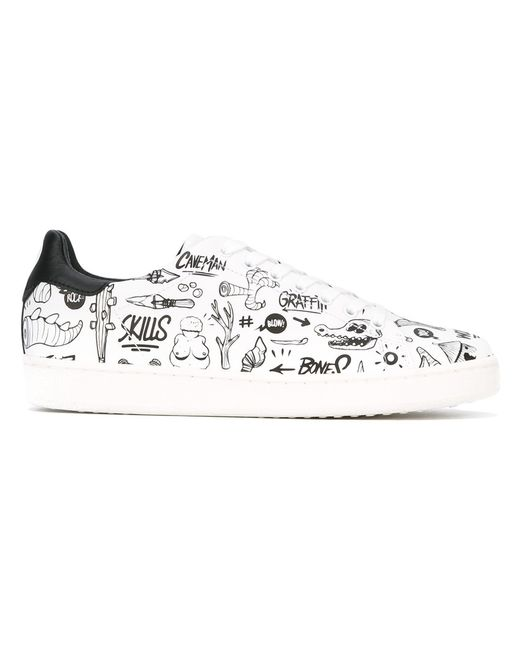 MOA MASTER OF ARTS | Мужское Белый Printed Sneakers Size 42