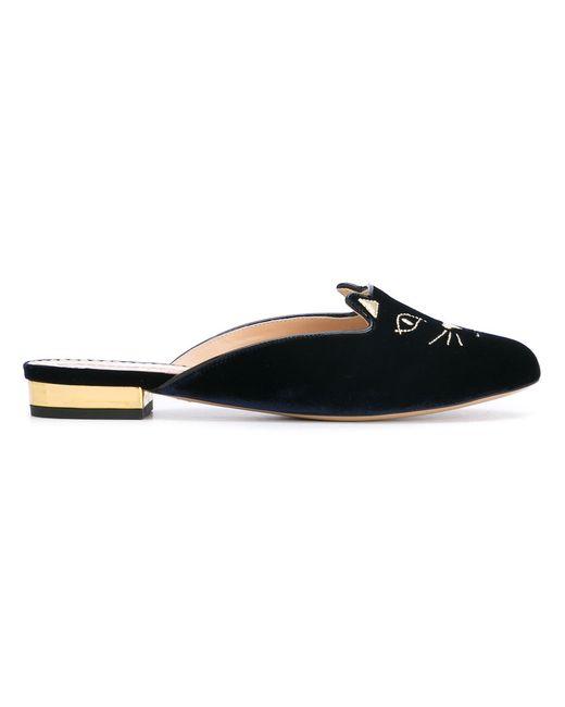 Charlotte Olympia | Женское Синий E005194vmk 460 Leather/Fur/Exotic Skins-Gtleather