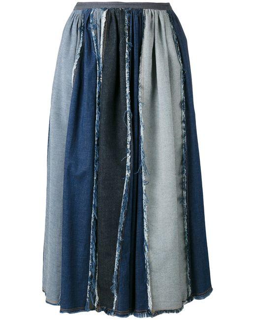 Antonio Marras | Женское Синий Contrast Pleated Skirt Size 42