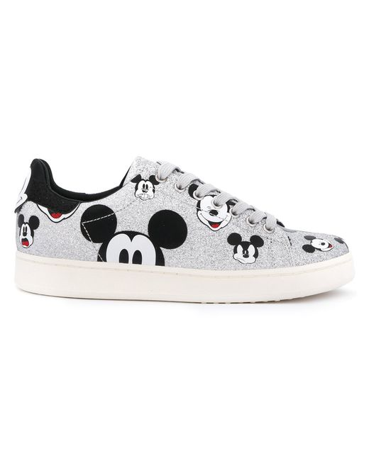 MOA MASTER OF ARTS   Серебристый Mouse Print Sneakers Women