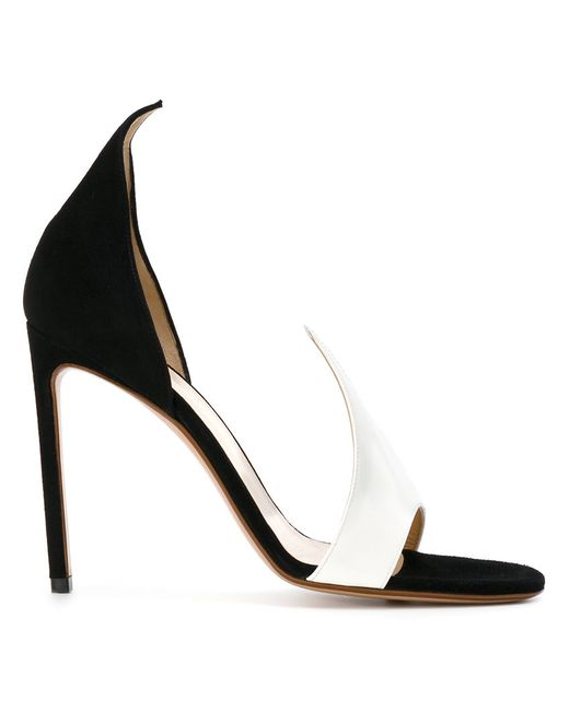 FRANCESCO RUSSO | Белый Pointed Detail Open Toe Pumps Women