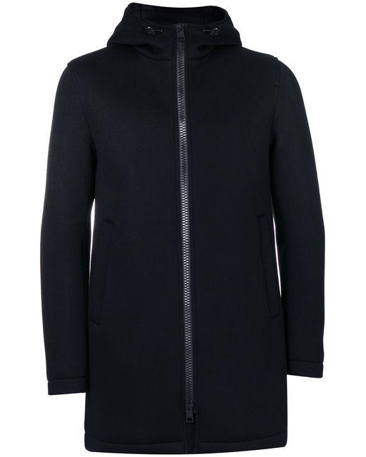Herno | Женская Чёрная Удлиненная Куртка С Капюшоном