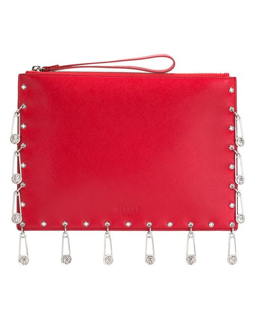 Versus | Женское Красный Pins Embellished Clutch Calf Leather