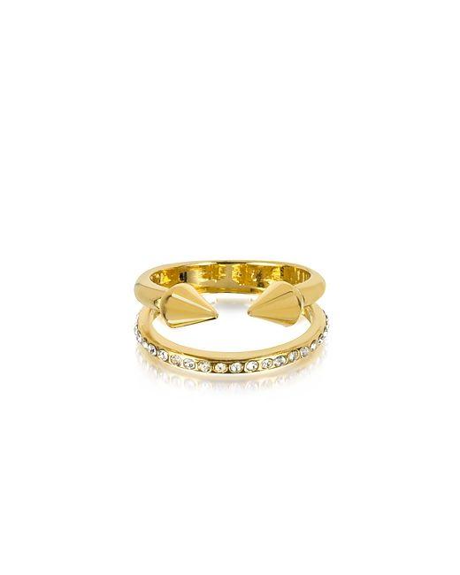 VITA FEDE   Женское Золотое Маленькое Золотистое Кольцо Titan С Кристаллами