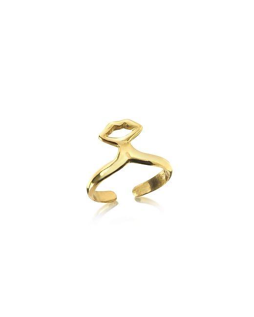 Bernard Delettrez | Женское Золотой Midi Ring Маленькое Бронзовое Кольцо С Губами