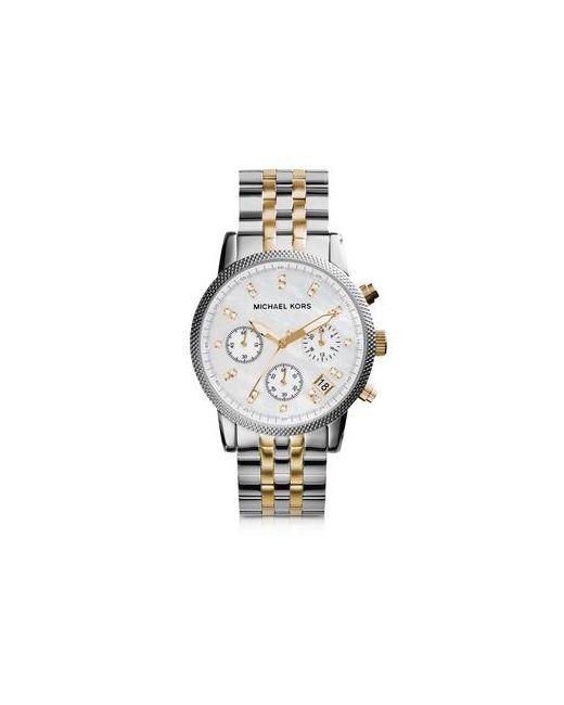 Michael Kors | Женское Серебристый Ritz Двухцветные Женские Часы Из Нержавеющей Стали