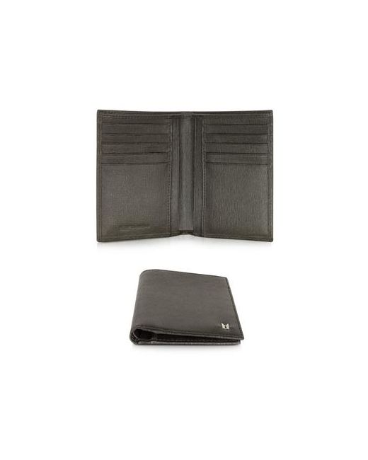 Moreschi | Коричневый Темно-Коричневый Мужской Кожаный Вертикальный Бумажник