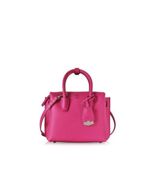 MCM | Женское Розовый Milla Маленькая Свекольно-Розовая Кожаная Сумка Tote