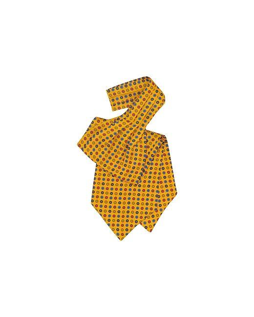 Forzieri | Желтый Floral Print Silk Tie Ascot