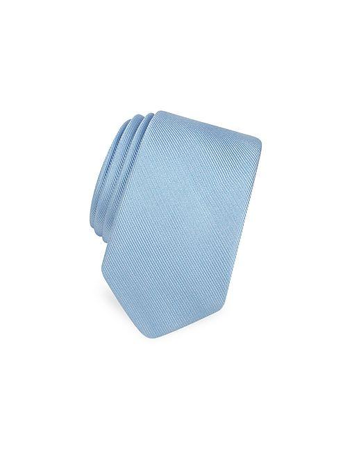 Forzieri | Solid Twill Silk Narrow Tie