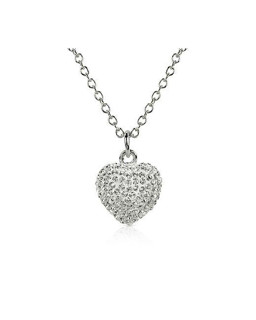 Gisèle St.Moritz | Белый Fantasmania Crystal Heart Pendant Necklace