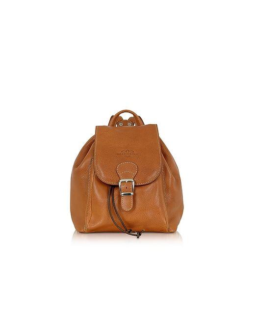 Robe di Firenze | Camel Italian Leather Backpack