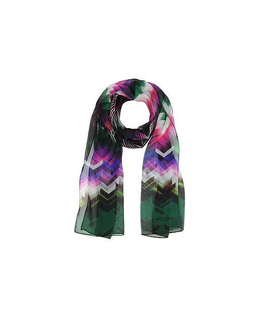 Mila Schon | Розовый And Green Zig Zag Print Silk Long