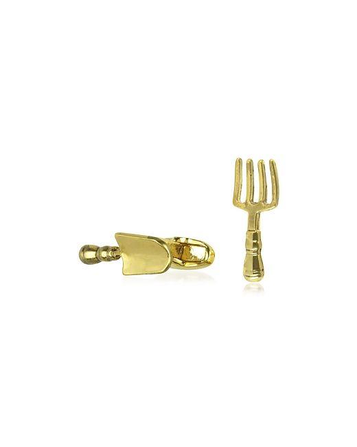 Paul Smith   Золотой Fork And Trowel Cufflinks