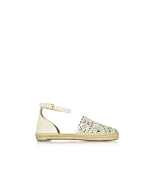 Tory Burch | Ivory Roselle Nappa Flat Espadrille