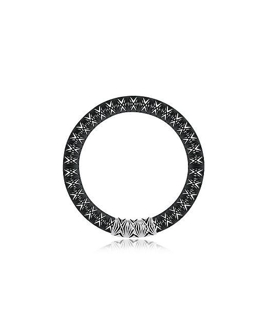 VOJD STUDIOS | Чёрный Umbala Chevron Flower Pendant Neckpiece