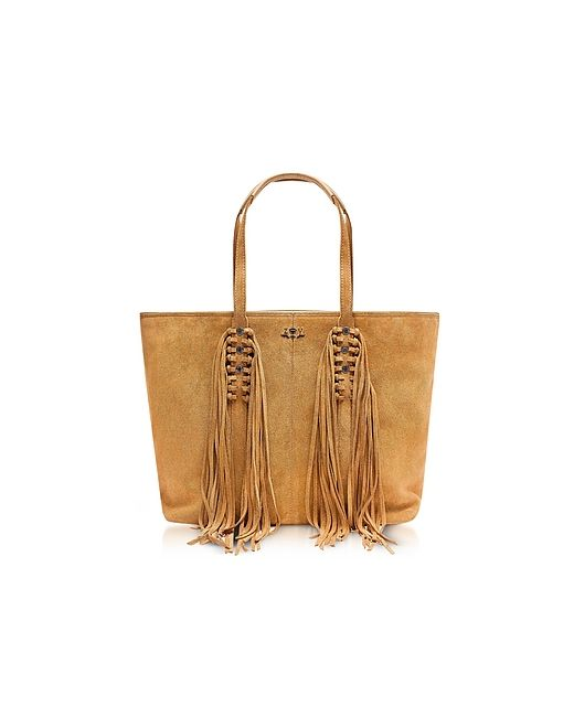 Zadig & Voltaire | Коричневый Mick Suede Fringed Tote Bag