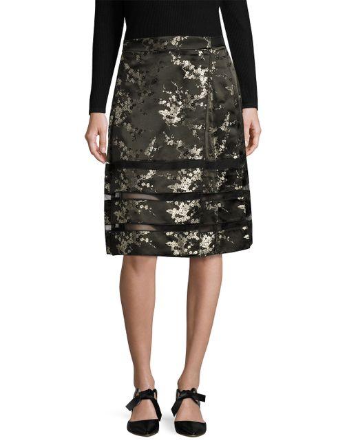 Marc Jacobs | Cherry Jacquard Pleated A Line Skirt
